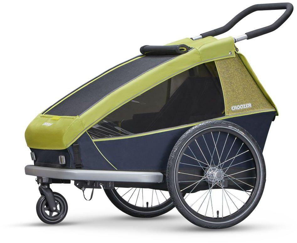 croozer kid for 2 fahrradanh nger lemon green online. Black Bedroom Furniture Sets. Home Design Ideas